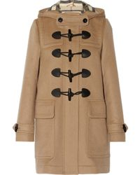 Burberry Brit Hooded Wool Duffle Coat - Lyst