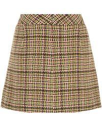 See By Chloé Fancy Tweed Mini Skirt - Lyst