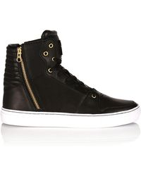 Creative Recreation Leather Zip High-Top Sneakers - Lyst