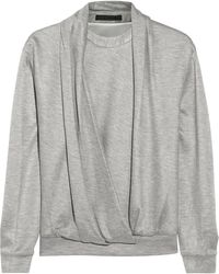 Alexander Wang Draped Jersey Sweatshirt - Lyst