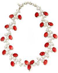 Carole Tanenbaum - Vintage Schreiner Rhinestone Necklace And Earrings Set - Lyst