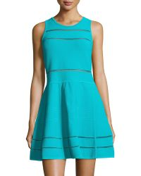 Nicole Miller Cody Fit--flare Bandage Knit Dress - Lyst