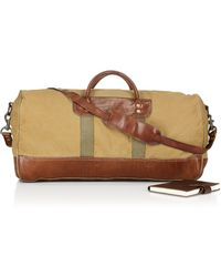 Ralph Lauren Polo Leather-Trimmed Canvas Duffel - Brown