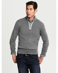 Banana Republic Colorblock Half Zip Pullover  - Lyst