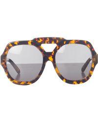 Karen Walker Utopia Sunglasses With Pouch - Lyst