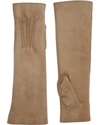Barneys New York Shearling-Lined Fingerless Arm-Warmer Gloves - Lyst