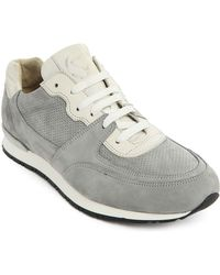 National Standard Edition 7 Grey Nubuck Leather Sneakers - Lyst