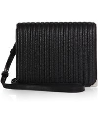 Alexander Wang Prisma Ribbed Leather Crossbody Bag black - Lyst