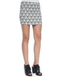 Alice + Olivia Elana Tweedprint Miniskirt - Lyst