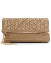 Deux Lux Madison Woven Faux Leather Clutch - Lyst