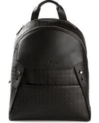 Ferragamo Black Gamma Backpack - Lyst
