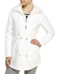 Laundry by Shelli Segal Quilted Drawstring Jacket - Lyst