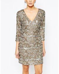 Oasis | Sequin Embellished Dress | Lyst