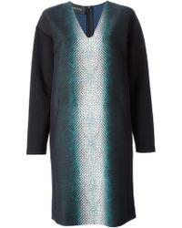 Cedric Charlier Snake Skin Print Loose Fit Dress - Lyst