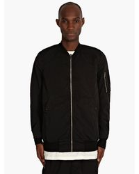 DRKSHDW by Rick Owens Mens Black Quilted Bomber Jacket - Lyst
