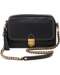 Eric Javits Pebbled-Leather Cross-Body Bag black - Lyst