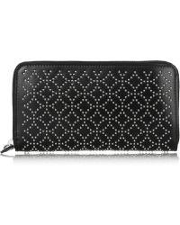 Alaïa Studded Leather Wallet - Black