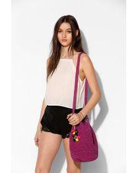 Stela 9 Crochet Beach Bucket Bag - Purple