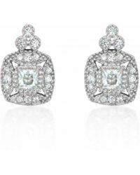 V Jewellery Simplicty Square Earrings - Lyst