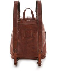 Campomaggi - Washed Leather Backpack - Cognac - Lyst
