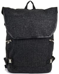 Tim Coppens Loden Wool And Leather Backpack - Black