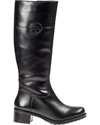 Andre Assous Legendary Riding Boot Black Leather - Lyst
