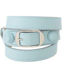 Balenciaga Coated Stud Classic Wrap Bracelet - Lyst