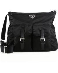 prada nylon crescent shoulder bag