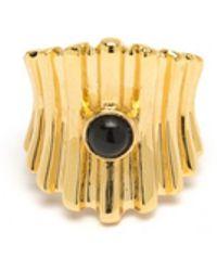 Lizzie Fortunato - Ridged Ring In Onyx - Lyst