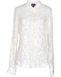 Just Cavalli Shirt white - Lyst
