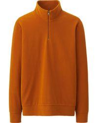Uniqlo Men Heattech Fleece Long Sleeve Half Zip Hoodie - Lyst