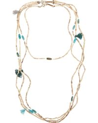 Isabel Marant Set Of Two Ceramic Bead, Bone And Turquoise Necklaces - Lyst