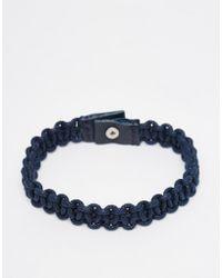 Jack & Jones - Leather Bracelet - Lyst