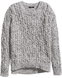 H&M Cableknit Jumper - Lyst