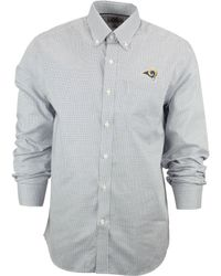 Men's Miami Dolphins Cutter & Buck Orange Epic Easy Care Tattersall Long Sleeve Button Down Shirt