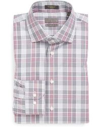 Calibrate Non-Iron Trim Fit Plaid Dress Shirt - Lyst
