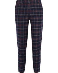 Thakoon - Addition Plaid Cotton-blend Flannel Tapered Trousers - Lyst