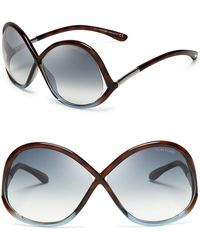 Tom Ford Ivanna Round Oversized Sunglasses - Lyst