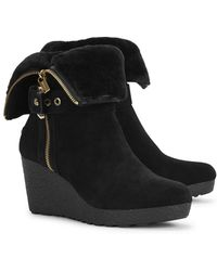 Michael Kors - Lizzie Shearling Lined Suede Boots - Lyst