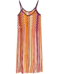 Missoni Zigzag Stripe Top with Long Fringe Detail - Lyst