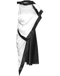 Thomas Tait - Silk-satin Asymmetric Dress - Lyst