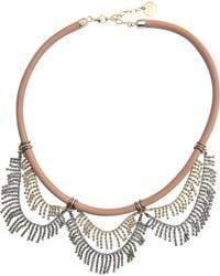 Anton Heunis Roaring 20s Rhinestone Necklace And Bibi Leather - Metallic