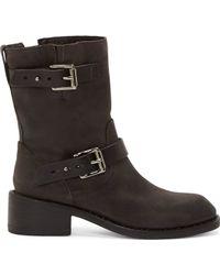 Rag & Bone Grey Suede Andover Harness Boots - Lyst