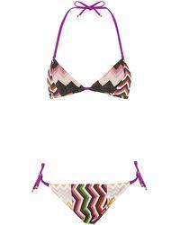 Missoni Mare Patchwork Triangle Bikini - Lyst