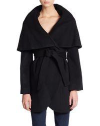 Elie Tahari Marla Wool Wrap Coat - Lyst