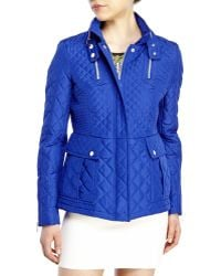 French Connection Diamond-Quilted Jacket - Lyst
