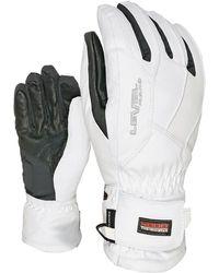 Level Super Radiator Gore-tex Ski Gloves - White