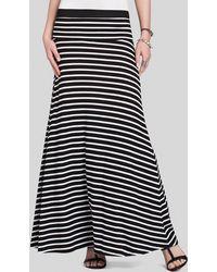BCBGMAXAZRIA Bcbg Max Azria Maxi Skirt Karolin Stripe - White