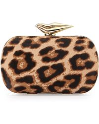 Diane von Furstenberg Flirty Calf-Hair Minaudiere Evening Clutch Bag - Lyst