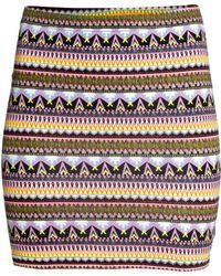 H&M Short Jersey Skirt multicolor - Lyst